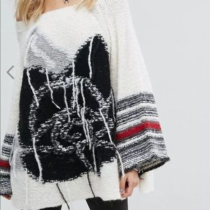NWT FREE PEOPLE LAST ROSE OVERSIZED SWEATER M/L